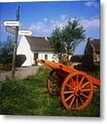Cart On The Roadside Of A Village, The Metal Print