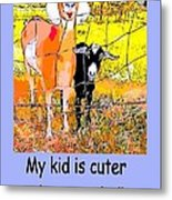 Cartoon Kid Metal Print by Myrna Migala