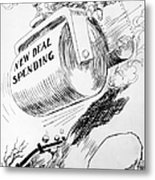 Cartoon: New Deal, 1936 Metal Print