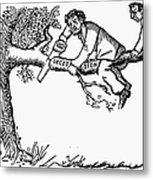 Cartoon: Secession, 1861 Metal Print