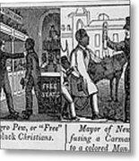 Cartoons Depicting The Racial Metal Print