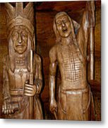 Carved American Indians Metal Print