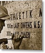 Carving The Name Of Jesse Owens Into The Champions Plinth At The 1936 Summer Olympics In Berlin Metal Print by American School
