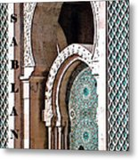 Casablanca Mosque Metal Print by Linda  Parker