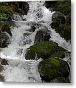 Cascades Below Metal Print