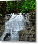 Cascading Falls Metal Print by Frozen in Time Fine Art Photography