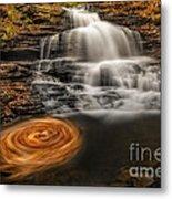 Cascading Swirls Metal Print