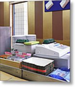 Cashier Desk Metal Print