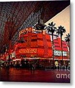 Casino Fremont Street Las Vegas Metal Print by Susanne Van Hulst
