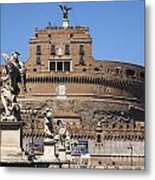 Castel Saint Angelo On The River Tiber. Rome Metal Print