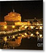 Castel San Angelo At Night. Rome Metal Print by Bernard Jaubert