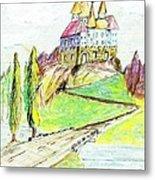 Castile Castle Metal Print