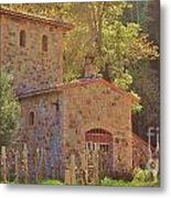 Castillo De Amoroso Farmhouse Napa Valley Metal Print by George Sylvia