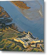 Castillo De San Marcos In St Augustine Florida - Aerial Photo Metal Print