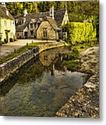 Castle Combe Bridgeside Metal Print
