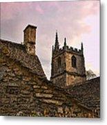 Castle Combe Medieval Church Metal Print