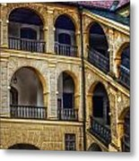Castle Courtyard Metal Print