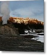 Castle Geyser Yellowstone National Park Metal Print