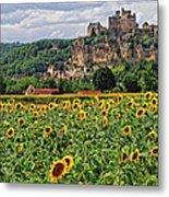 Castle In Dordogne Region France Metal Print