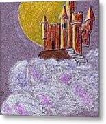 Castle Moon Metal Print