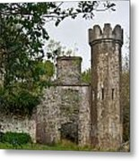 Castle Near Upper Lake Kilarney Irelnad Metal Print