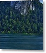 Castle Of Lake Bled Metal Print
