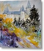 Castle Of Veves Belgium Metal Print
