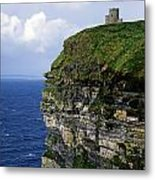 Castle On A Cliff, Obriens Tower Metal Print by The Irish Image Collection