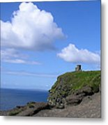 Castle On The Cliffs Of Moher Metal Print