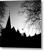 Castle Silhouette Metal Print by Semmick Photo