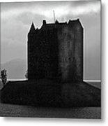 Castle Stalker Dusk Silhouette Metal Print