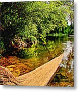 Castor River View Metal Print