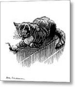 Cat And Mouse, Artwork Metal Print
