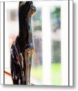 Cat At The Window Metal Print