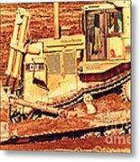 Cat Bulldozer . 7d10945 Metal Print