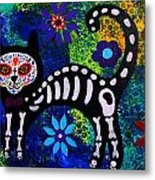 Cat Day Of The Dead Metal Print