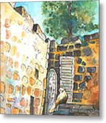 Cat In Nicosia Metal Print