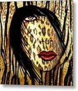 Cat Woman 2 Metal Print