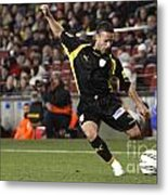 Catalan Player Shooting Metal Print