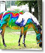Catch A Painted Pony Metal Print
