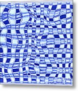 Catch A Wave - Blue Abstract Metal Print