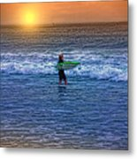 Catch A Wave Metal Print by Tom York Images