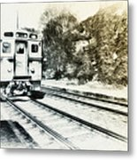 Catch That Train Metal Print