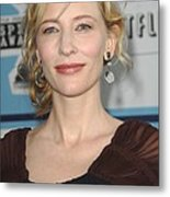 Cate Blanchett At Arrivals Metal Print