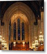 Cathedral In Chicago Metal Print