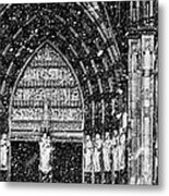 Cathedral In The Snow Panorama Metal Print
