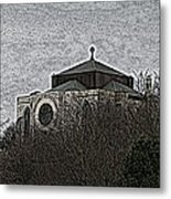 Cathedral On The Hill Metal Print