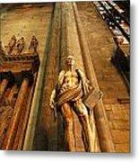 Cathedral Statue Milan Italy Metal Print