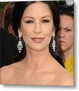 Catherine Zeta-jones Wearing Van Cleef Metal Print by Everett