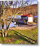 Catoctin Lake Boathouse Metal Print